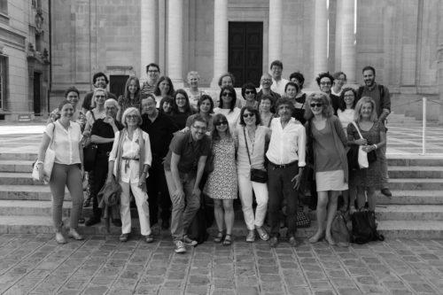 Les intervenants et participants. Cour de la Sorbonne le 14/06/2017