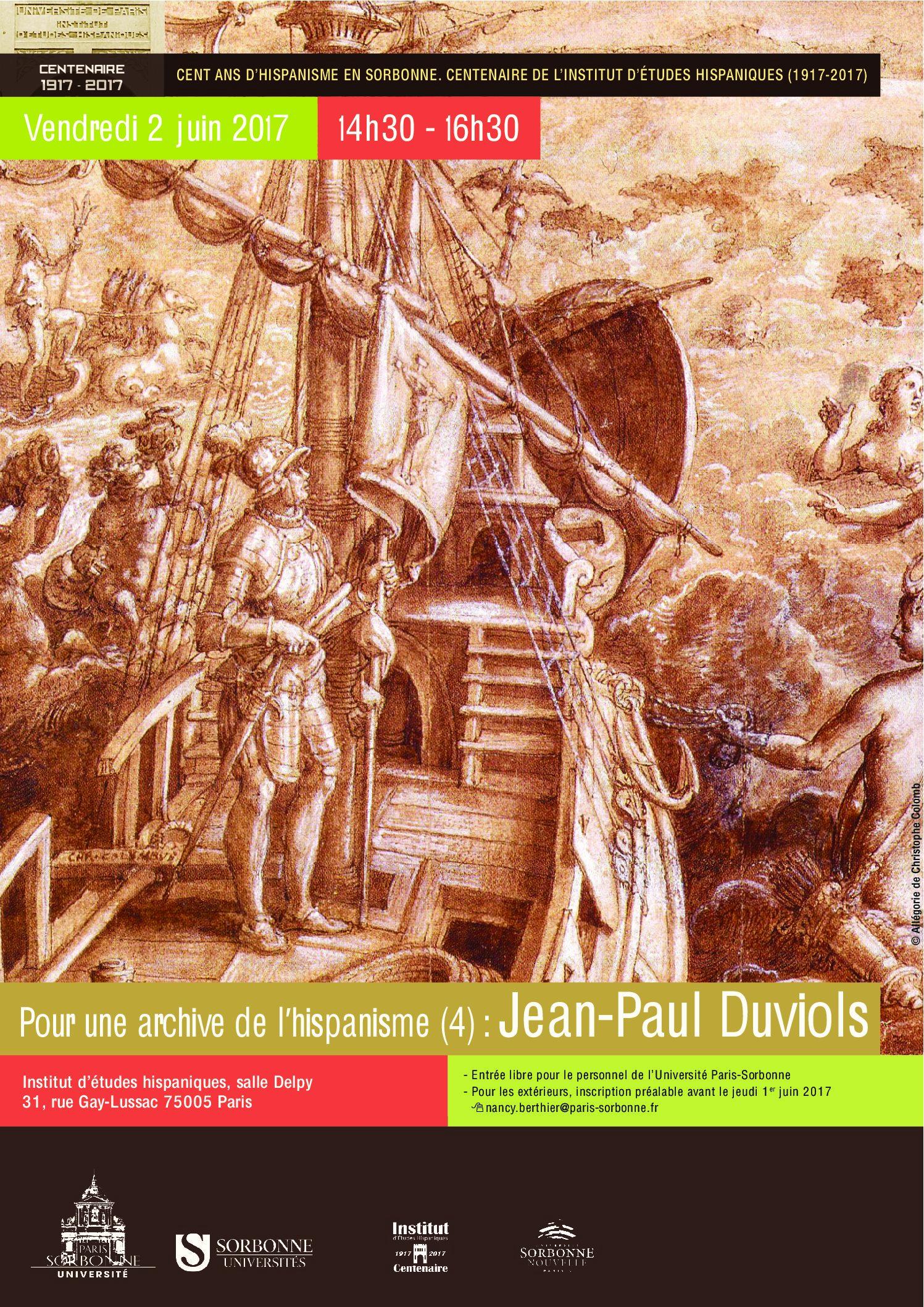 Pour une archive de l'hispanisme (4): Jean-Paul Duviols