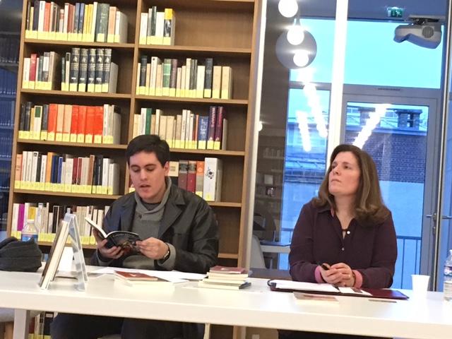 Andrés Urdaneta et Maria Zerari lors de la présentation de La lucidez del fuego
